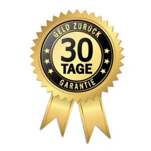 30 Tage Geld zurück - Garantie Siegel