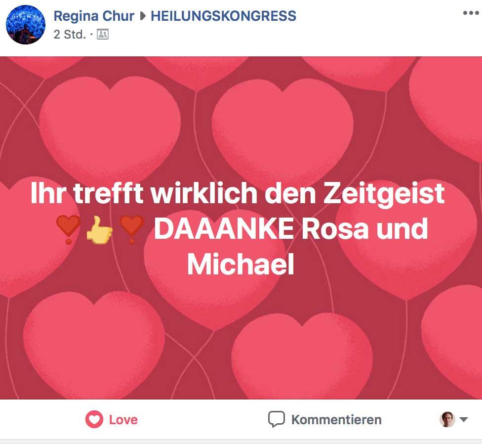 Heilungskongress Testimonial - Regina Chur
