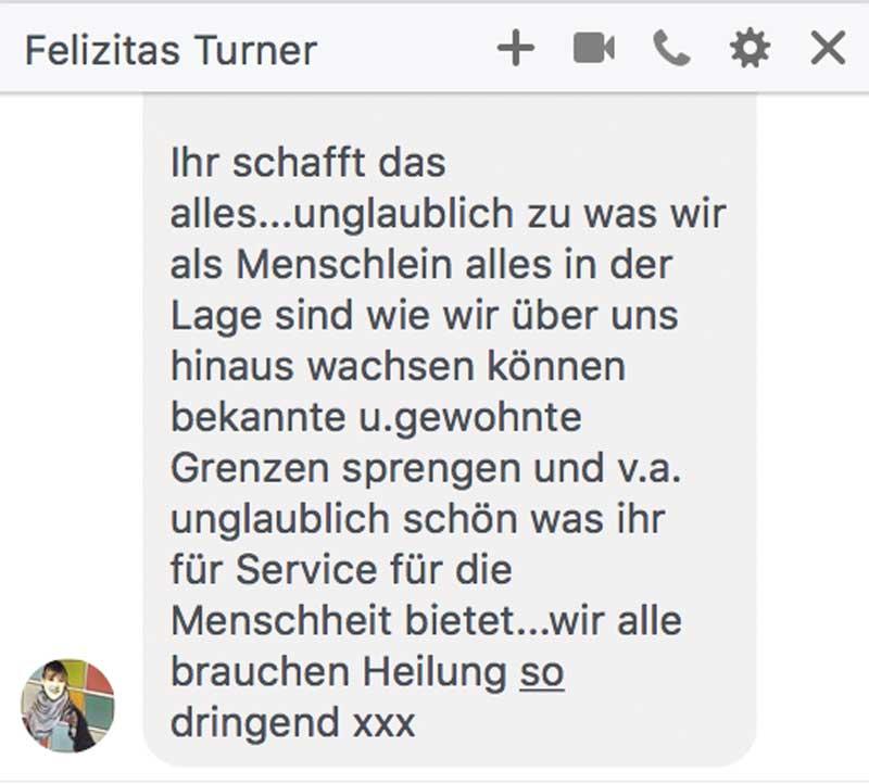 Heilungskongress Testimonial - Feliizitas Turner