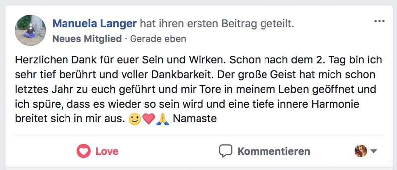 Heilungskongress Testimonial - Manuela Langer - 2
