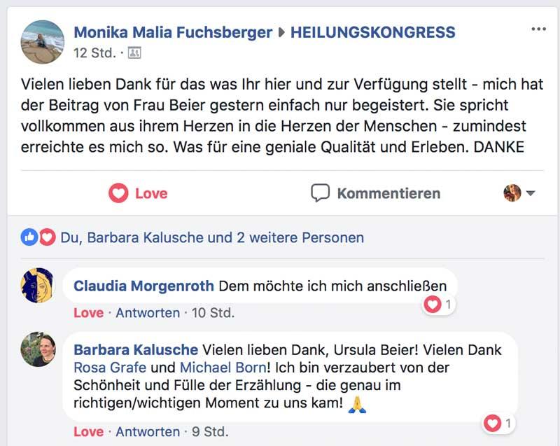Heilungskongress Testimonial - Monika Maila Fuchsberger