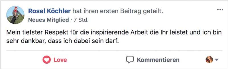 Heilungskongress Testimonial - Rosel Köchler