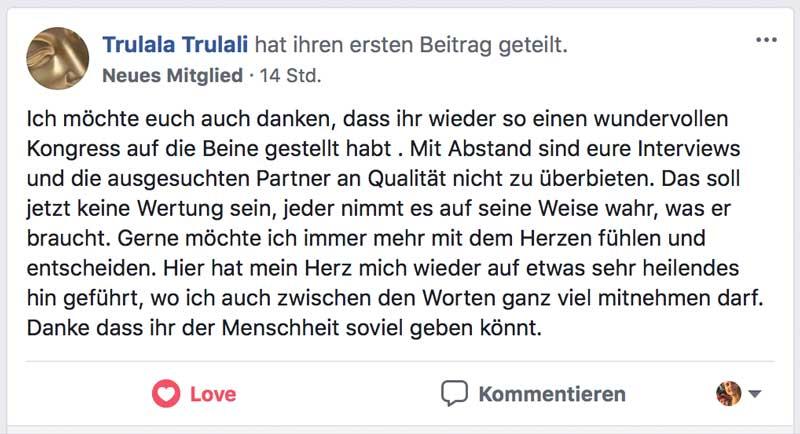 Heilungskongress Testimonial - Trulala Trulali
